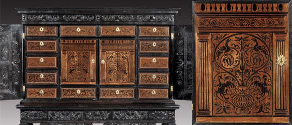 Cabinet d'ébène, vers 1645