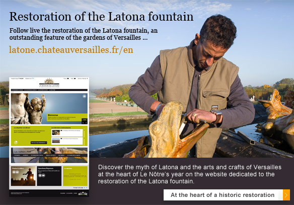Restoration of the Latona fountain : discover the website