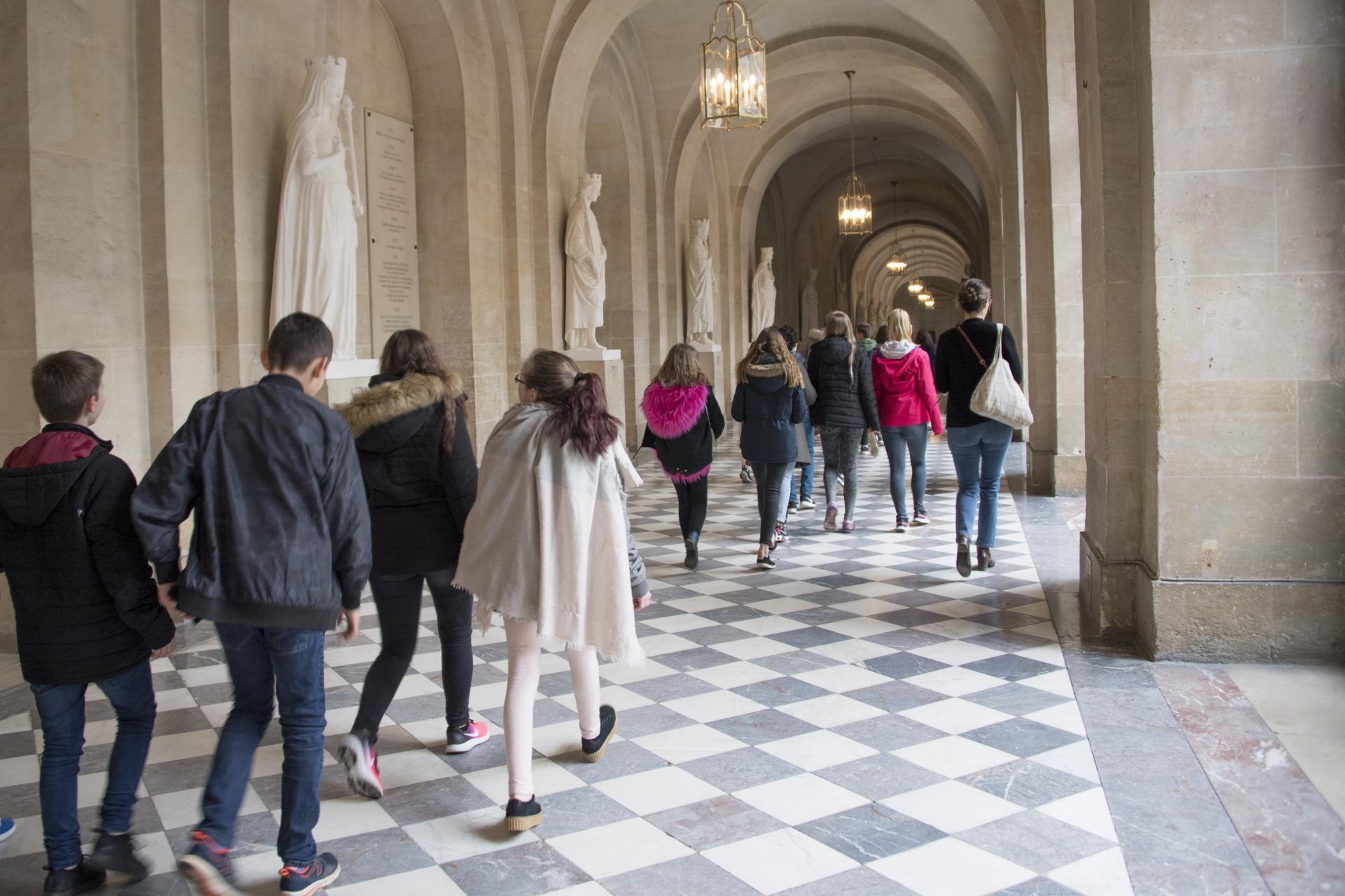 Visite chateau de versailles groupe scolaire