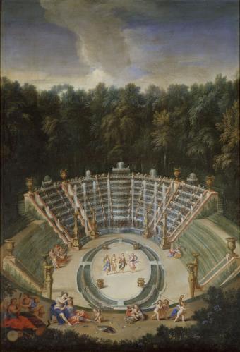 Vue de la Salle de Bal avec Armide couronnant Renaud