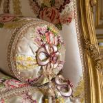 détail d'un fauteuil rose