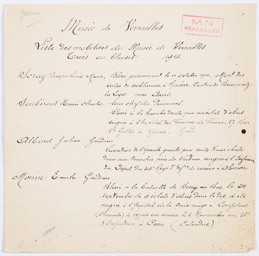 Liste des gardiens du musée