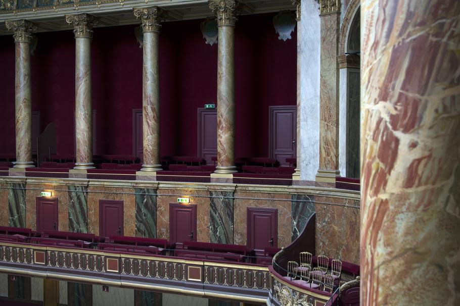 Balustrade dans la salle du Congrès