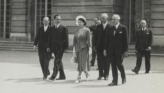 Visite de la Reine Elisabeth II à Versailles 1948
